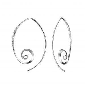 Wholesale Silver Spiral Hoop Earrings