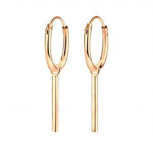 Wholesale Silver Bar Charm Hoop Earrings