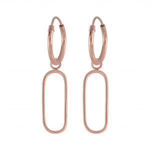 Wholesale Silver Wire Charm Hoop Earrings