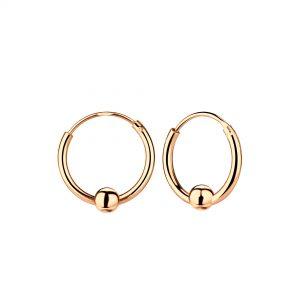 Wholesale 12mm Silver Ball Hoop Earrings