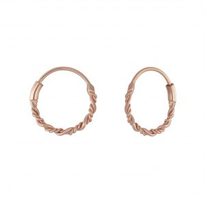 Wholesale 10mm Silver Twisted Hoops