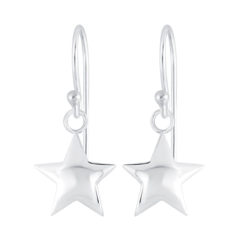 Wholesale Silver Star Earrings