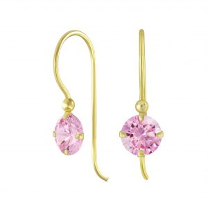 Wholesale Silver Round Cubic Zirconia Earrings