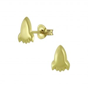 Wholesale Silver Rocket Stud Earrings