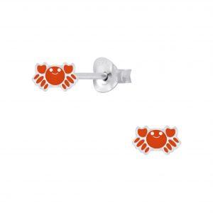 Wholesale Silver Crab Stud Earrings