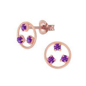 Wholesale Silver Crystal Stud Earrings