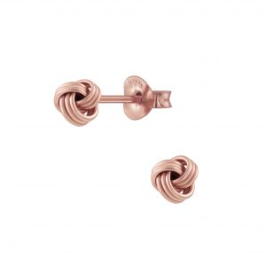 Wholesale Silver Knot Stud Earrings