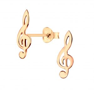 Wholesale Silver G Clef Stud Earrings