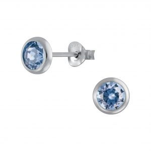 Wholesale Silver 5mm Stud Earrings with Crystals from Swarovski