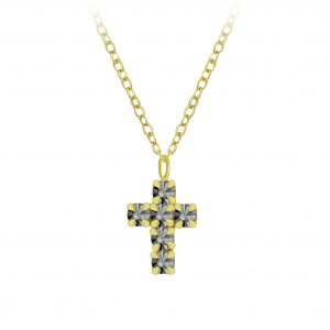 Wholesale Silver Cross Crystal Necklace