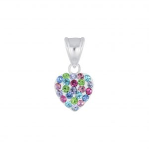 Wholesale Silver Crystal Heart Pendant