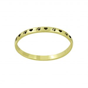 Wholesale Silver Paw Print Ring