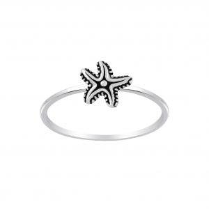 Wholesale Silver Starfish Ring