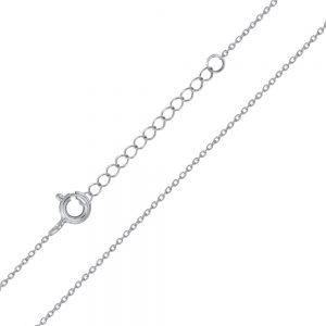 Wholesale 45cm Silver Extendable Cable Chain