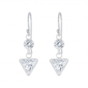 Wholesale Silver Geometric Cubic Zirconia Earrings
