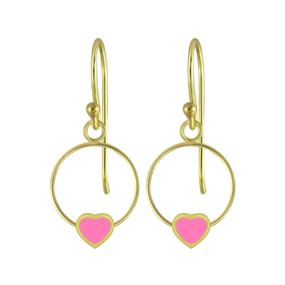 Wholesale Silver Heart Wire Earrings