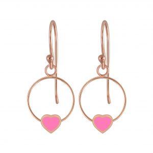 Wholesale Silver Heart Wire Earrings