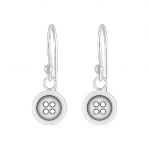 Wholesale Silver Button Earrings