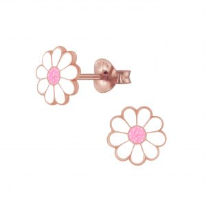Wholesale Silver Daisy Flower Stud Earrings