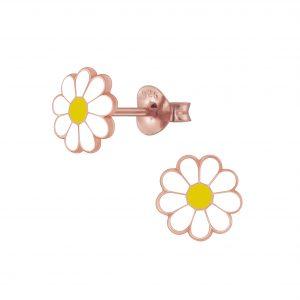 Wholesale Silver Daisy Flower Stud Earrings