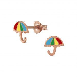 Wholesale Silver Umbrella Stud Earrings