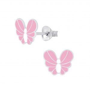Wholesale Silver Butterfly Stud Earrings
