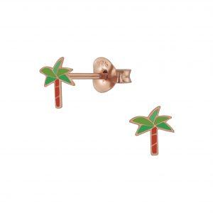 Wholesale Silver Plam Stud Earrings