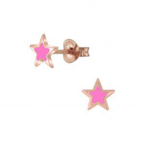 Wholesale Silver Star Stud Earrings