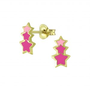 Wholesale Silver Star Stud Earrings