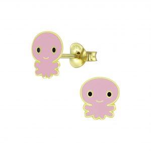 Wholesale Silver Octopus Stud Earrings