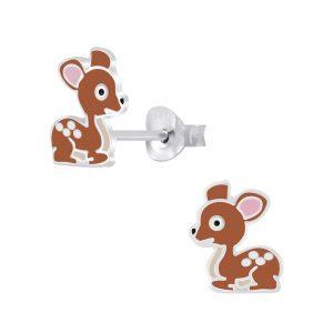 Wholesale Silver Deer Stud Earrings