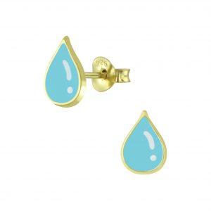 Wholesale Silver Tear Drop Stud Earrings