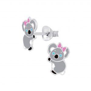 Wholesale Silver Koala Stud Earrings