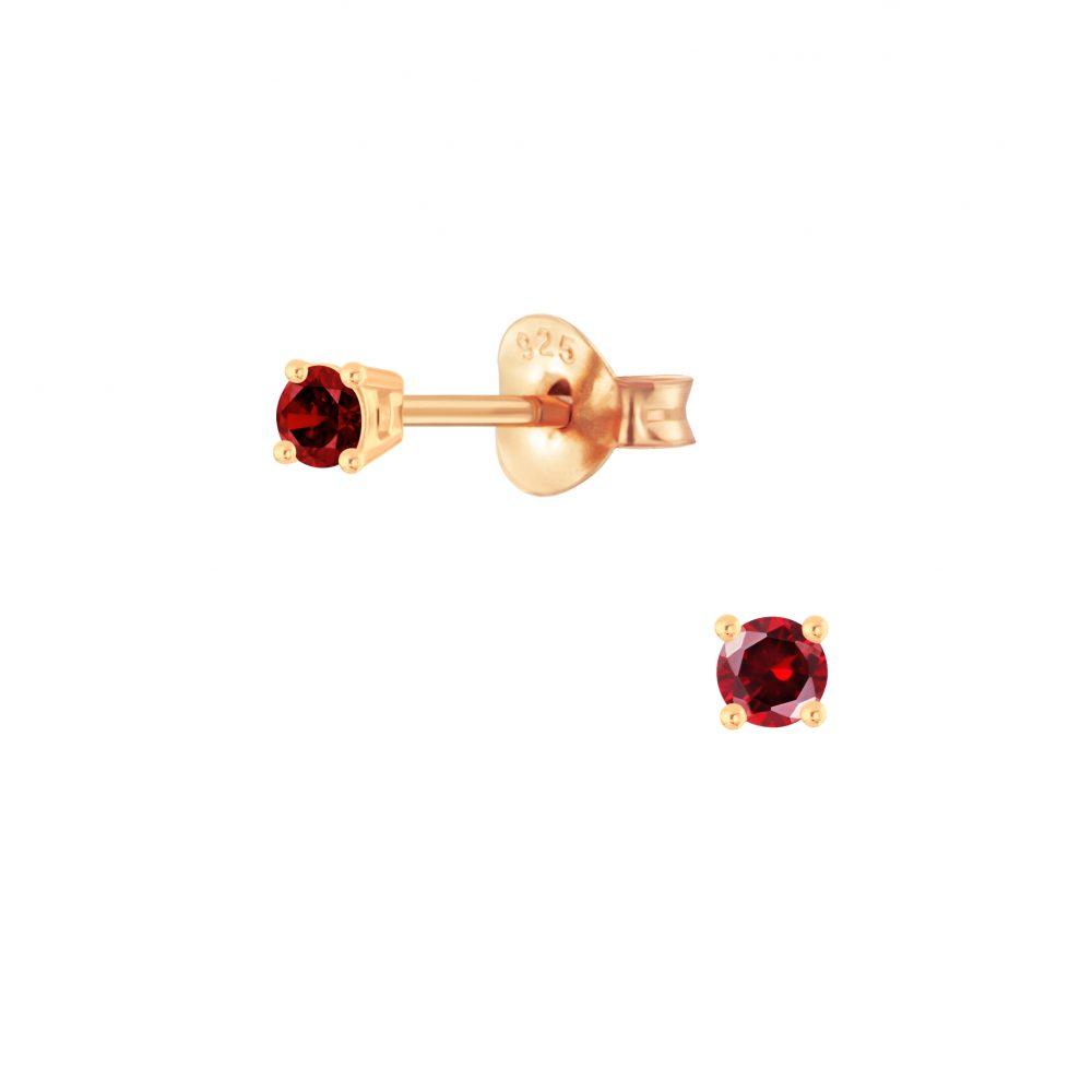 Wholesale 2mm Round Cubic Zirconia Silver Stud Earrings