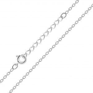 Wholesale 41cm Silver Extendable Cable Chain