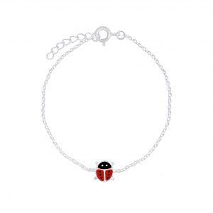 Wholesale Silver Ladybug Bracelet