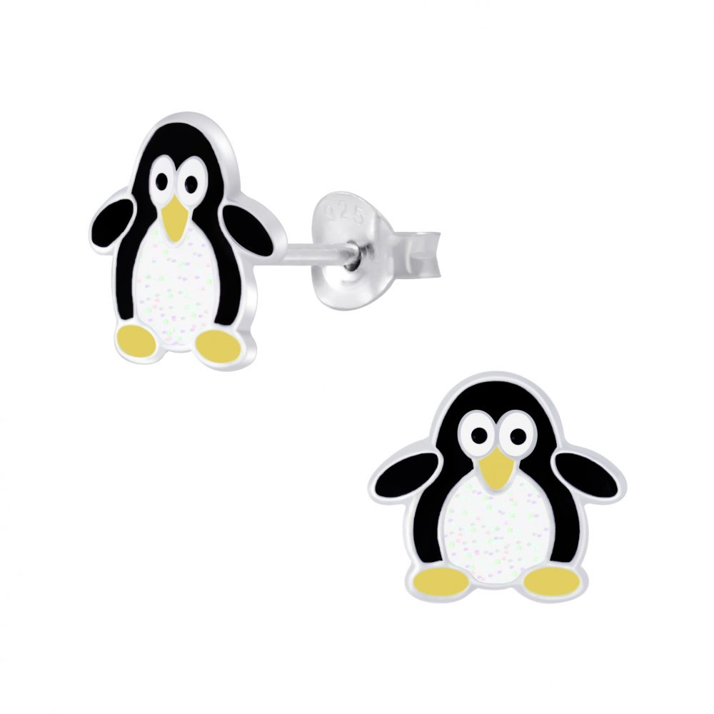Wholesale Silver Penguin Stud Earrings