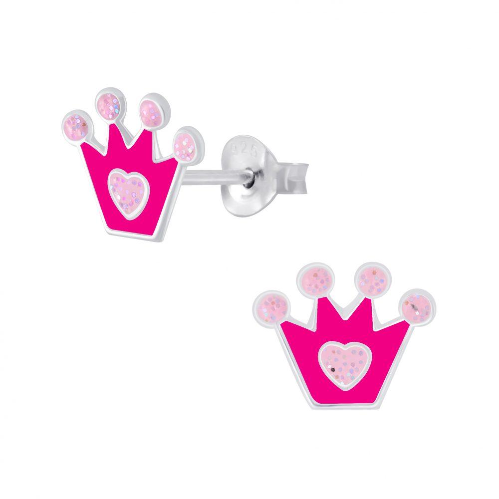 Wholesale Silver Crown Stud Earrings