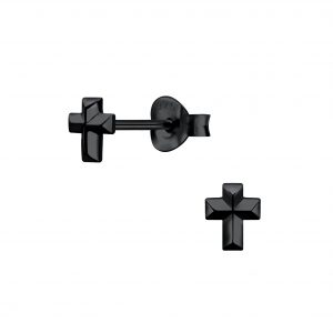 Wholesale Silver Cross Stud Earrings