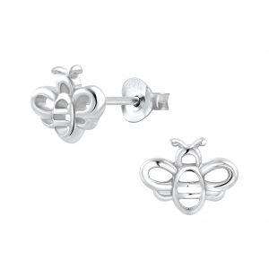 Wholesale Silver Bee Stud Earrings
