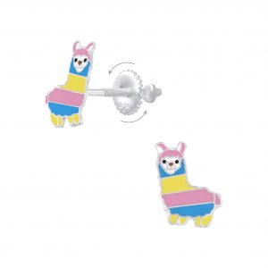 Wholesale Silver Alpaca Screw Back Earrings