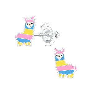 Wholesale Silver Alpaca Screw Back Earrings