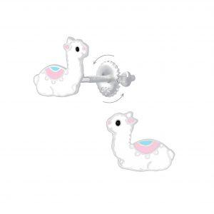 Wholesale Silver Llama Screw Back Earrings