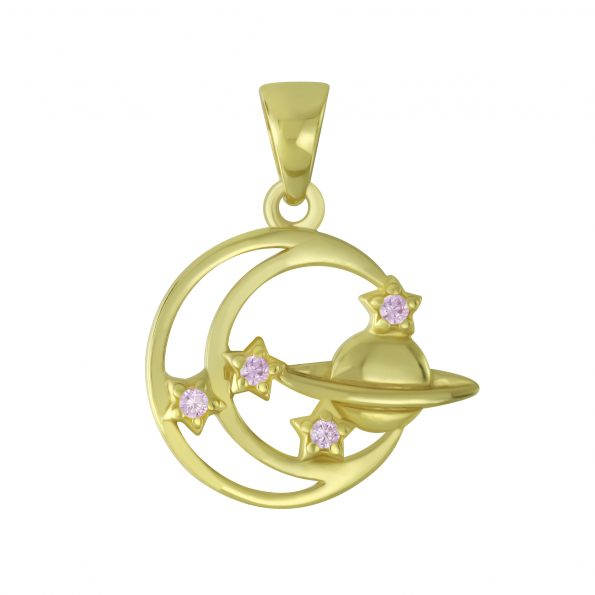 Wholesale Silver Planet Pendant