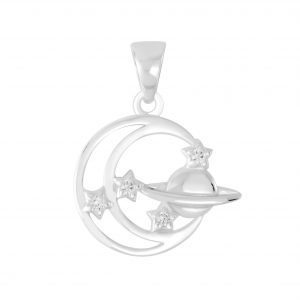 Wholesale Silver Planet Pendant