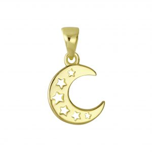 Wholesale Silver Moon Pendant