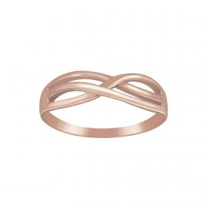 Wholesale Silver Intertwined Ring