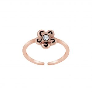 Wholesale Silver Flower Toe Ring