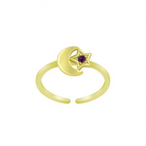 Wholesale Silver Moon and Star Toe Ring