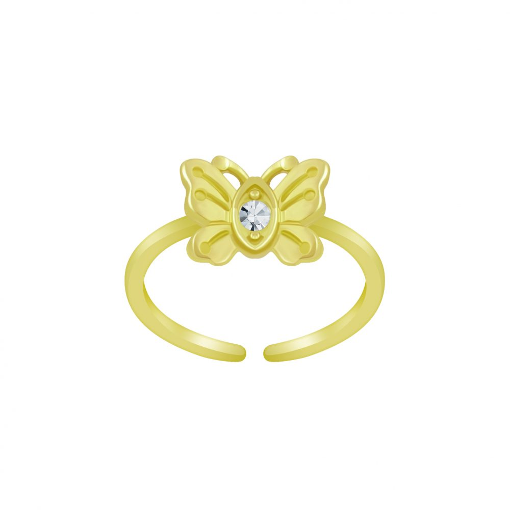 Wholesale Silver Butterfly Toe Ring